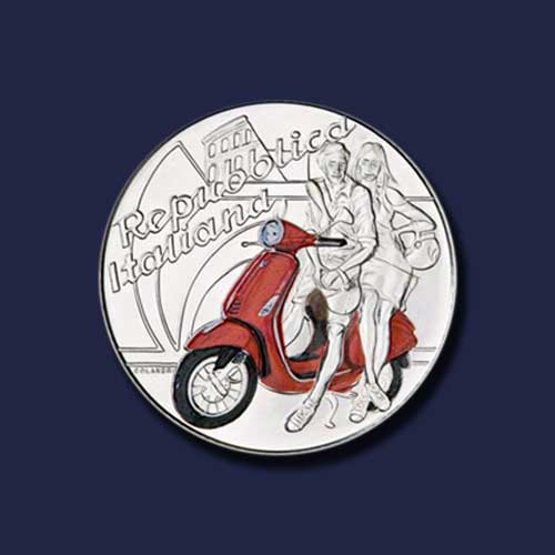 Iconic-Vespa-Scooter-on-Italian-Coins