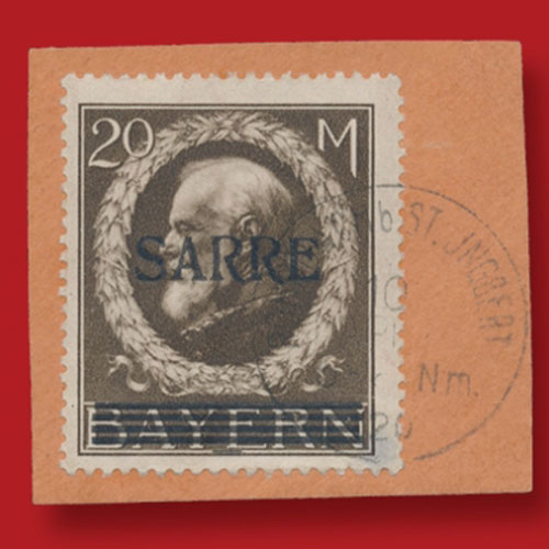 20-mark-brown-stamp-of-King-Ludwig-III