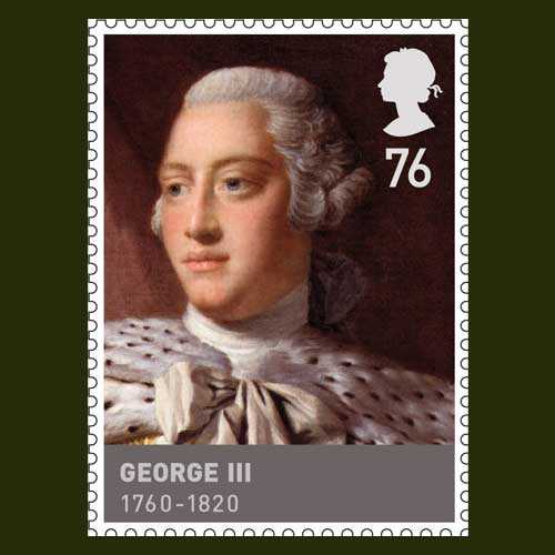 King George III Commemorated On A Stamp