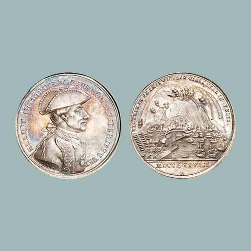 1783-Medal-Celebrating-British-Victory-over-Gibraltar-Fort-Auctioned