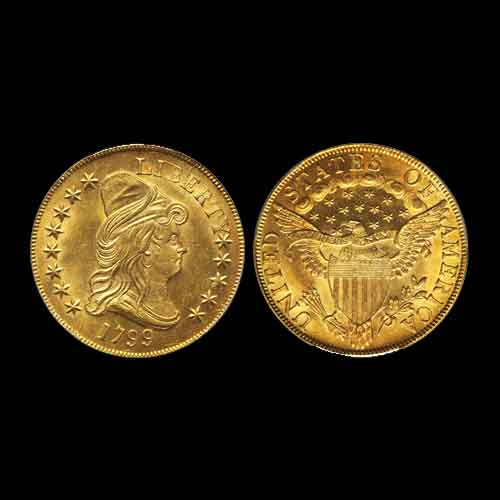 Heritage's-Long-Beach-Coin-Auction-Displays-a-Pair-of-Coins,-Awaiting-Bidders