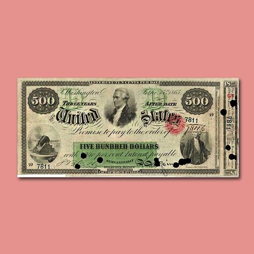 Unique-1865-$500-Interest-Bearing-Note
