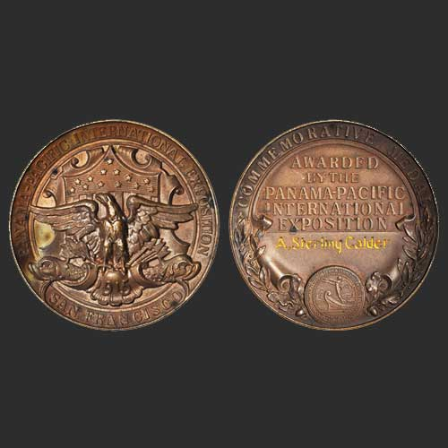 Beautiful-1915-Bronze-Panama-Pacific-Expo-Medal-Sold-for-an-Affordable-Cost