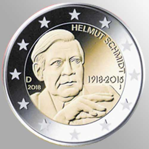 €2-German-Coin-to-Celebrate-100th-Birth-Anniversary-of-Helmut-Schmidt
