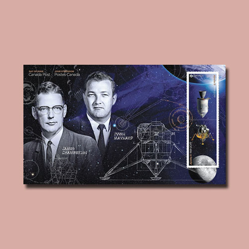 Two-Canadian-Stamps-Honour-the-1969-Moon-Landing