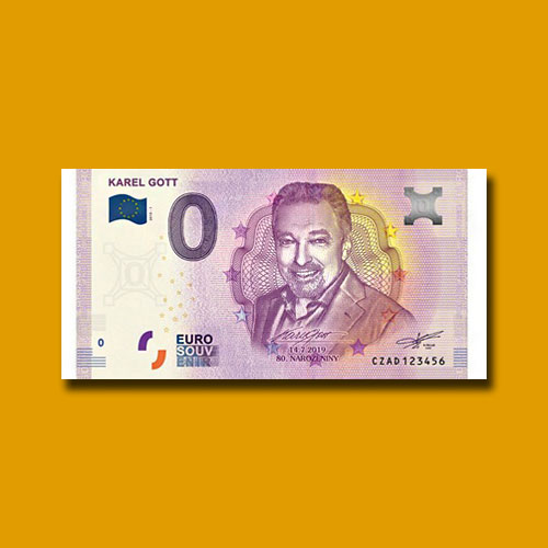 Zero-Euro-Souvenir-Banknote-Celebrates-Karel-Gott's-80th-Birthday