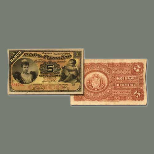 Rare-1896-Puerto-Rico-5-Pesos-to-be-Auctioned