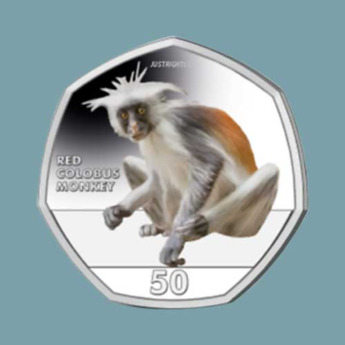 Red-Colobus-Monkey-on-New-Coin-from-Gibraltar