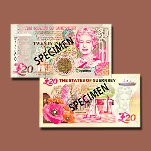 Guernsey-Issues-New-£20-Banknotes-to-Commemorative-First-World-War-Centenary