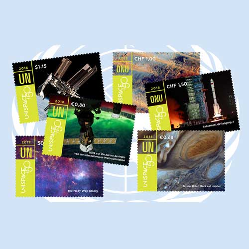 New-UNPA-Stamps-Celebrate-50th-Anniversary-of-UNISPACE-I