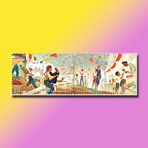 US-Stamps-Celebrate-State-and-County-Fairs