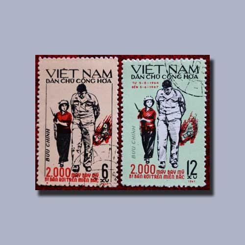 Propaganda-Stamps-of-North-Vietnam