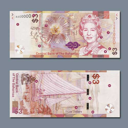 Bahamas-Releases-New-$3-Banknote-With-Revised-Designs