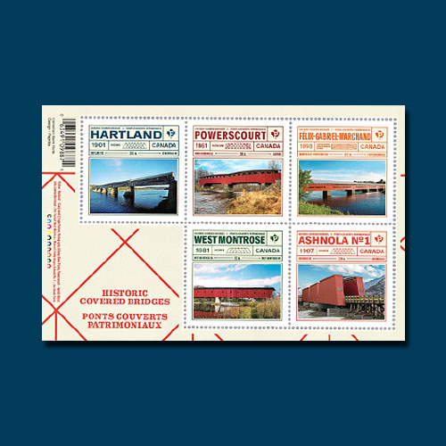Canadian-Postage-Stamps-to-Commemorate-Historic-Covered-Bridges