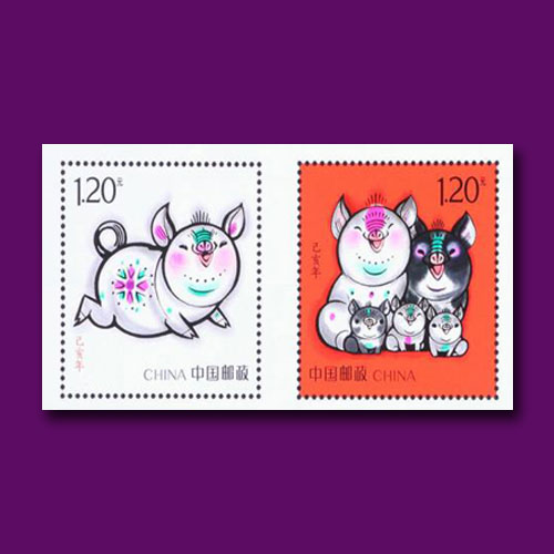 Latest-Chinese-Stamps-Celebrating-the-Lunar-Year-of-Pig