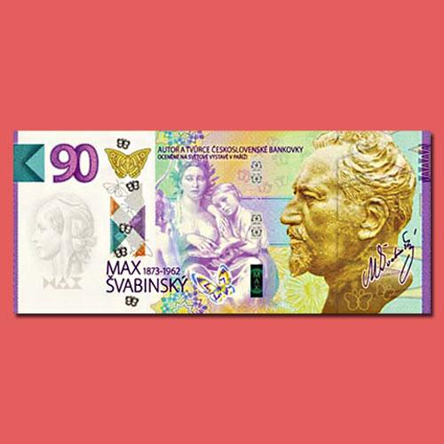 Banknote-Like-Commemorative-Certificate-Released-in-Czech-Republic