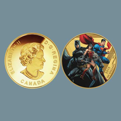 Royal-Canadian-Mint-issues-Power-packed-Coin-Series,-Featuring-Justice-League-Heroes