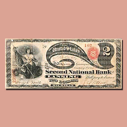 Rare-'Lazy-Deuce'-$2-National-Banknote-Discovered
