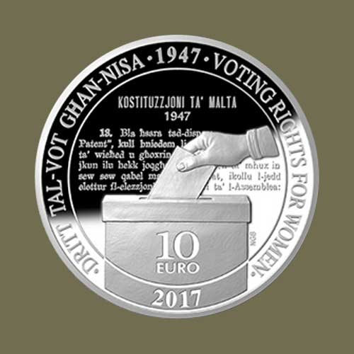 Women's-Right-to-Vote-Celebrated-on-Latest-Maltese-Coins