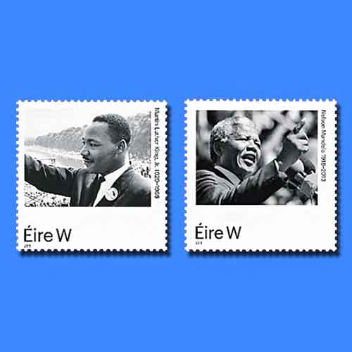 Martin-Luther-King-Jr.-and-Nelson-Mandela-on-Latest-Stamps-from-Ireland