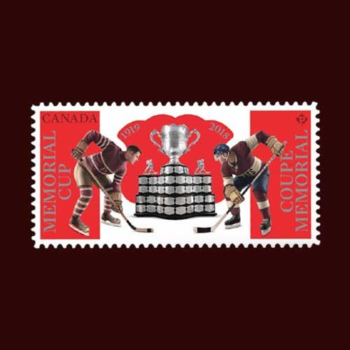Canada's-Memorial-Cup-Championship-Junior-Ice-Hockey-Tournament-Celebrated-on-New-Stamps