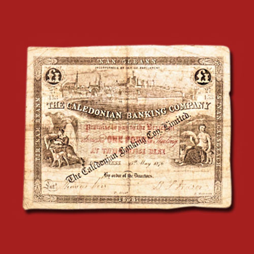 Rare-1876-Caledonian-Banking-Company-Limited-£1-Note-of-Inverness