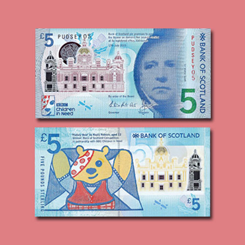 Rare-Pudsey-Bear-£5-notes-of-2015-to-be-Auctioned