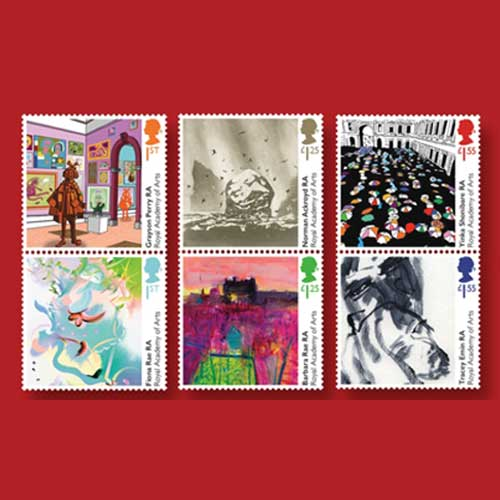 New-Stamps-Celebrate-the-250th-Anniversary-of-London's-Royal-Academy-of-Arts