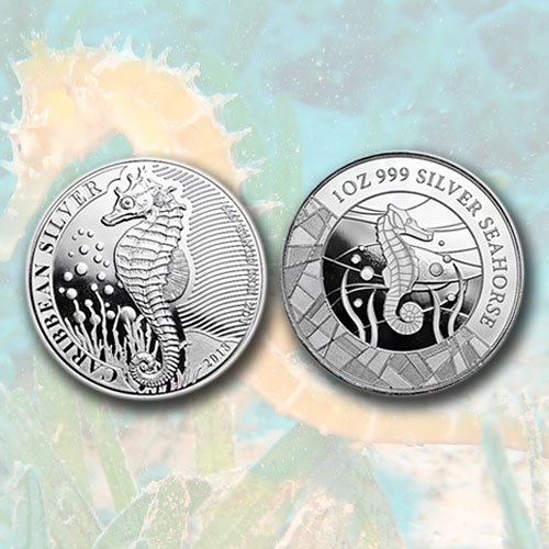 Seahorse-on-Coins-from-Barbados-and-Samoa