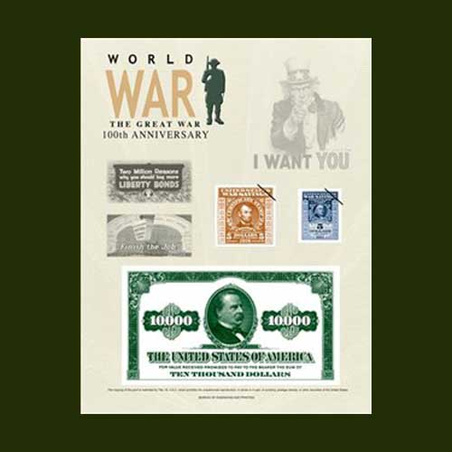 World-War-I-–-100th-Anniversary-2018-Intaglio-Print-Program's-Latest-Release