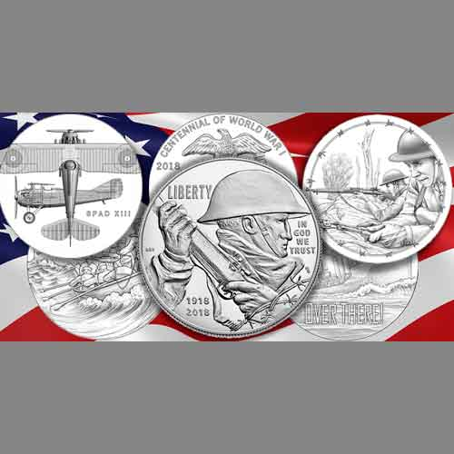 U.S.-Mint-issues-2018-World-War-I-Silver-Dollar-&-Companion-Medal-Sets