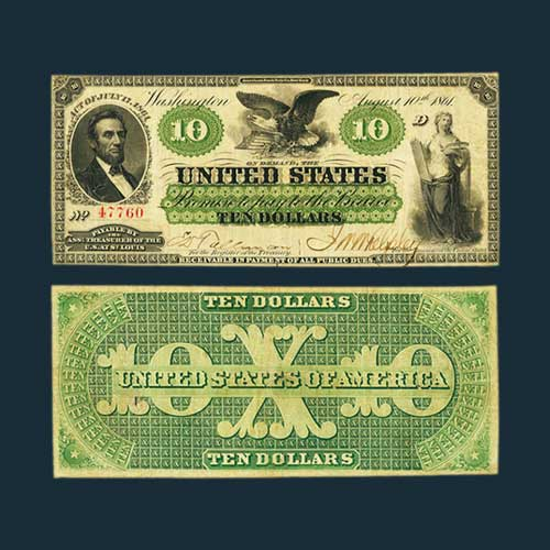 1861-$10-Demand-Note-Sold-for-a-Whopping-$168,000