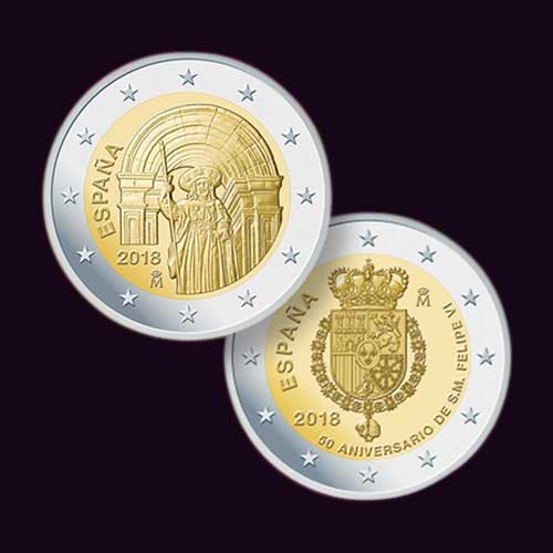 Santiago-and-King-Felipe-VI-Honoured-on-Latest-Spanish-Coins