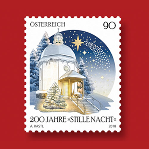 Postage-Stamp-Celebrates-200-Years-of-Christmas-Carol,-Silent-Night-