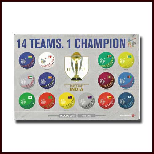 Postage-Stamps-Commemorating-Cricket-World-Cup