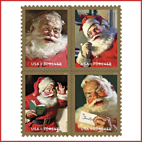 Classic-Santa-Stamps-by-USPS