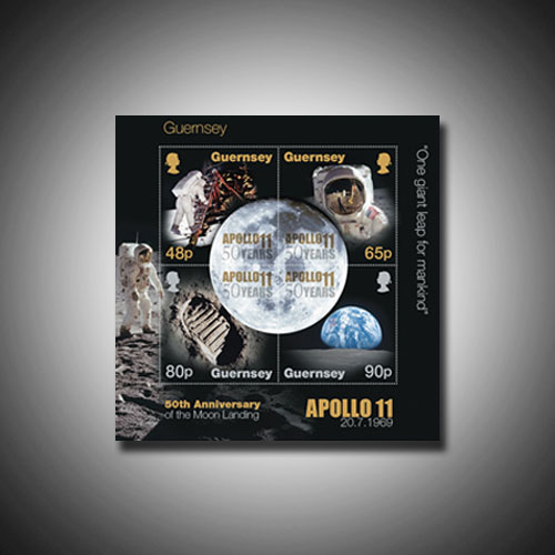 Stamps-from-Guernsey-and-Jersey-Celebrate-50th-Anniversary-of-Apollo-Mission
