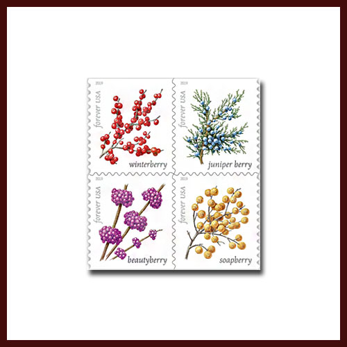 Latest-USPS-Stamps-Depict-Winter-Berries