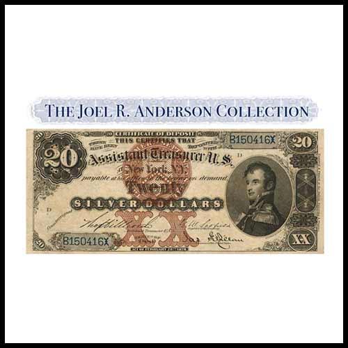 Rare-$20-Silver-Certificate-of-Deposit