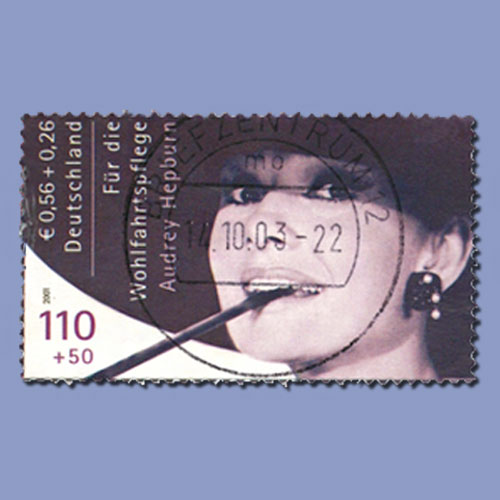 Rare-Unissued-Semipostal-Stamp-Featuring-Audrey-Hepburn-to-be-Auctioned