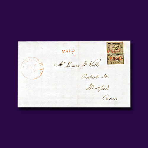 1846-Cover-with-Brattleboro-Double-Franking-to-be-Auctioned
