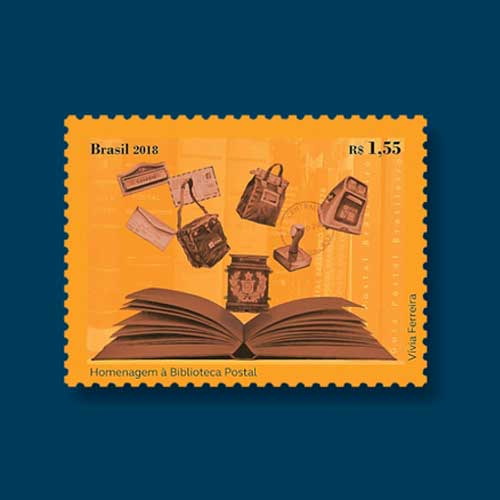 Postal-Library-Honoured-on-Latest-Brazilian-Stamp