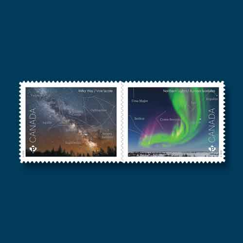 New-Canadian-Stamps-Feature-Milky-Way-and-Northern-Lights