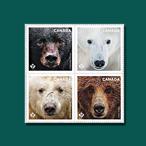 Bears-on-Latest-Canadian-Postage-Stamps