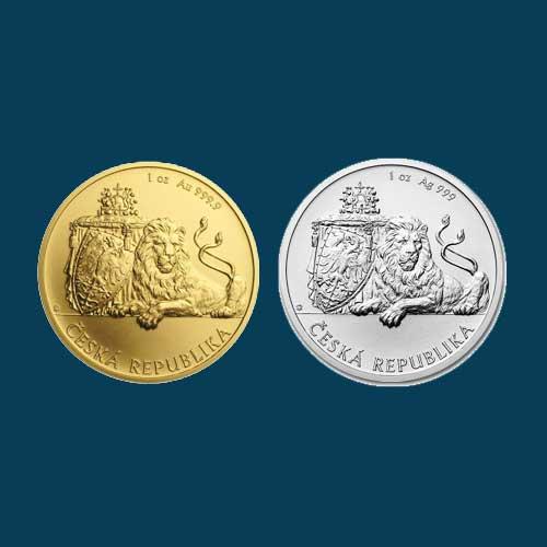 2018-Gold-&-Silver-Czech-Lion-Bullion-Coins