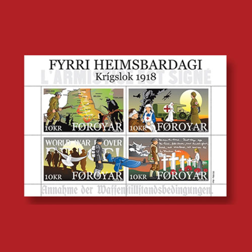 Stamps-from-Faroe-Islands-on-Armistice-Day