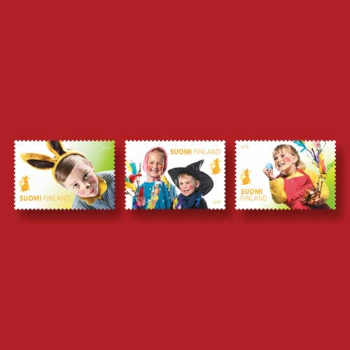 New-Finnish-Stamps-Show-Children-Celebrating-Easter