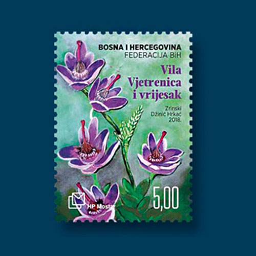 Flowers-on-Stamps-from-Bosnian-Croat-Administration