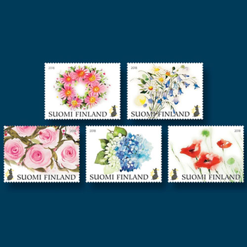 Flowers-on-Latest-Stamps-from-Finland