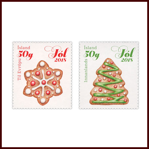 Iceland's-Christmas-Stamps-Smell-like-Fresh-Gingerbread